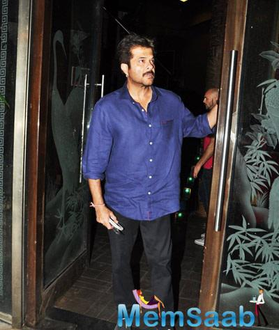 Anil Kapoor Snapped At The Dil Dhadakne Do Completion Bash