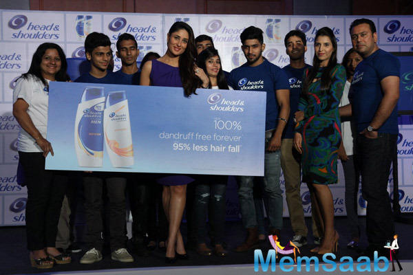 Kareena Kapoor Was Present At The Launch Of A New Range Of A Shampoo Brand