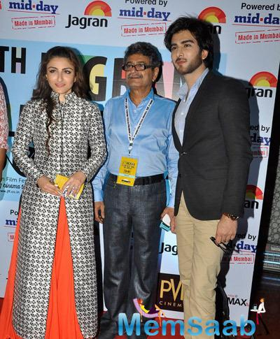 Soha Ali Khan And Imran Abbas Naqvi Posed For Camera During The 5th Jagran Film Festival