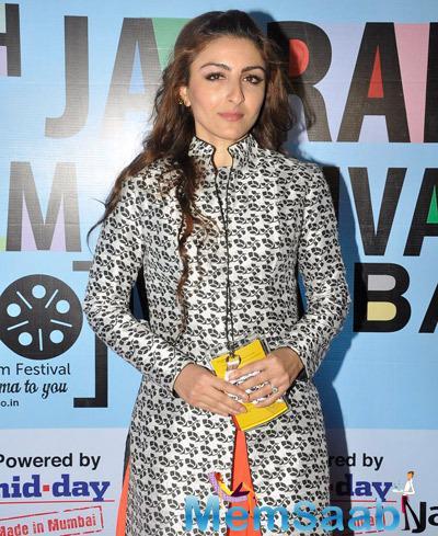 Soha Ali Khan Nice Look During The 5th Jagran Film Festival