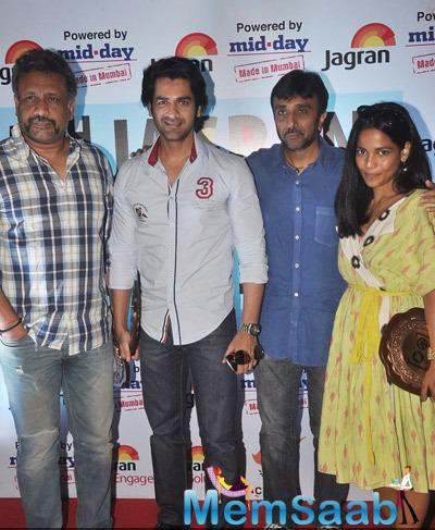Anubhav Sinha,Arjan Bajwa,Sanjay Gadhvi And Priyanka Bose Clicked During The 5th Jagran Film Festival On Day 3