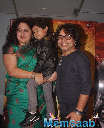 Kailash Kher With Family Attended The Special Screening Of Desi Kattey