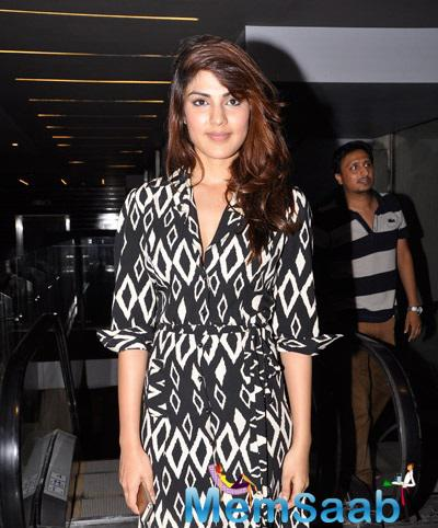 Rhea Chakraborty With Stunning Look Grace The Desi Kattey Special Screening