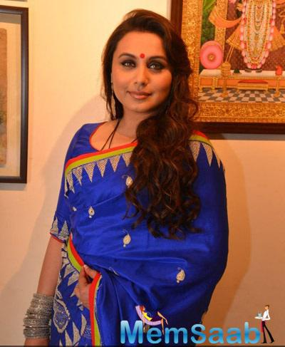 Rani Mukerji Was Clicked At An Art Collector's Paradise Show By Artist Suvigya Sharma