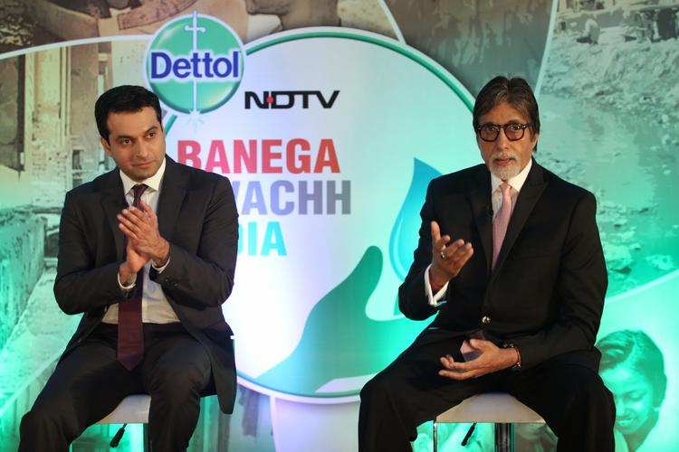 Amitabh Bachchan Addresses The Media At The Launch Of Dettol Banega Swachh India Initiative