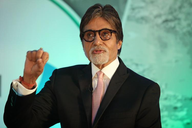 Big B Interact With Media During The Launch Of Dettol Banega Swachh India Initiative