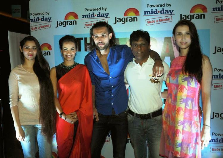 Sasha Agha,Tia Bajpai,Akhil Kapur And Claudia Ciesla Posed During 5th Jagran Film Festival Day 3