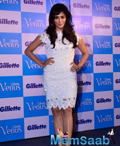 Brand Ambassador Chitrangada Singh Strike A Pose For Shutterbug At The Launch Of Gillette Venus