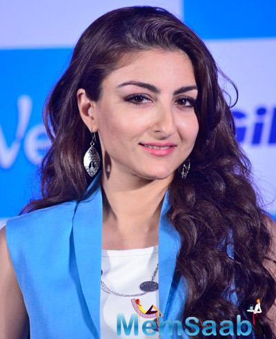 Soha Ali Khan Dazzling Look At The Launch Of Gillette Venus Satin Care Shave Gel