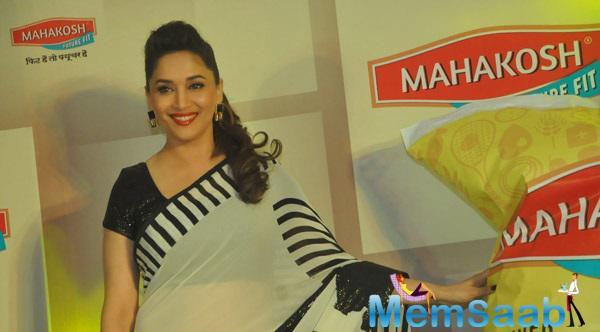 Charming Madhuri Dixit Attend Mahakosh Event In Delhi