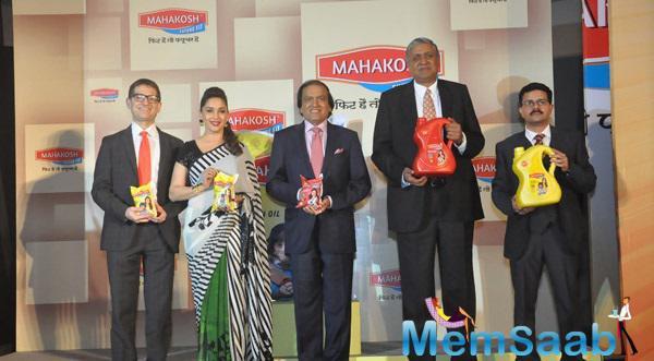Madhuri Dixit Launches New Mahakosh Oil In Delhi