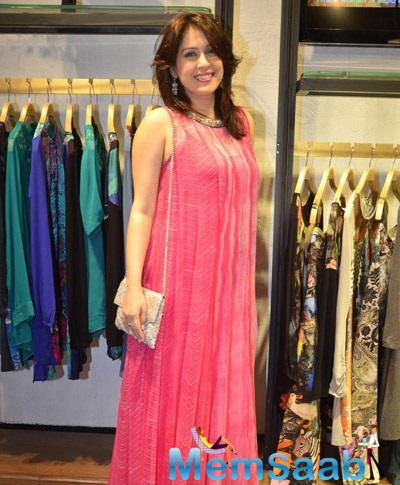 Actress Amrita Looks Stunning In Pink Gown During The Launch Of  Ritu Kumar's Store Launch