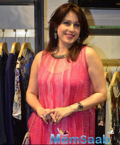 Amrita Raichand Strikes A Smiley Look During Ritu Kumar's Store Launch Event