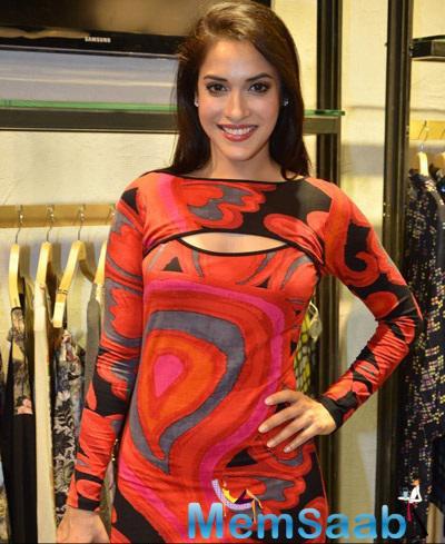 Rashmi Nigam At Fashion Designer Ritu Kumar's Store Launch Event