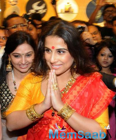 Beautiful Vidya Balan On The Opening Of Our Kolkata PC Jeweller's Showroom