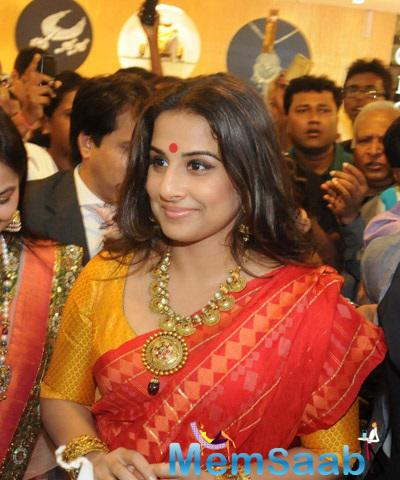 Vidya Balan Snapped In Kolkatta For PC Jewelers Launch
