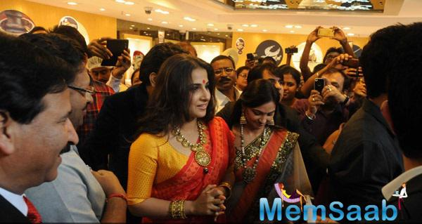 Vidya Balan In Vaishali S At Pc Jewelers Launch In Kolkata