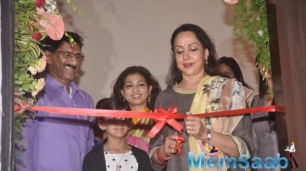 Hema Malini Inaugurating The ATHARVA Institute Of Film And Television For New Talents