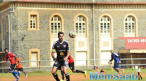 Dino Morea Seen Playing Football At Scared Heart Boys High School