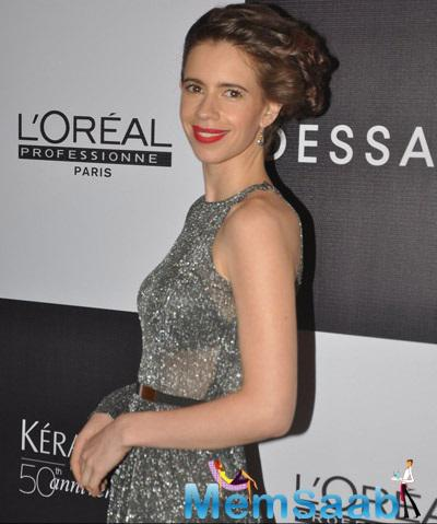 Kalki Koechlin Looking Very Cute In Her Attaire At Dessanges New Look Event