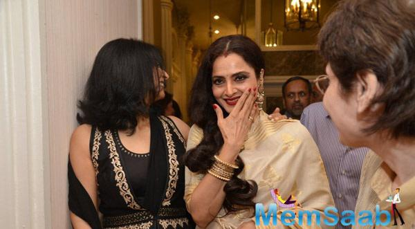 Evergreen Beauty Rekha Seen All Smiles At The Launch Of Yard Exhibition