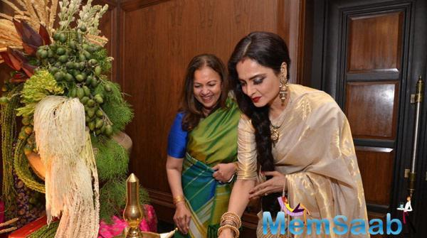 Rekha Inaugurates Amazing Yard Exhibition By Sahachari Foundation