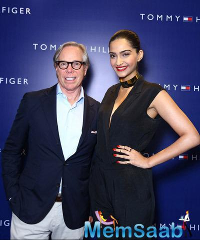 Tommy Hilfiger Posed With Sonam Kapoor At The Tommy Hilfiger Select Citywalk Store