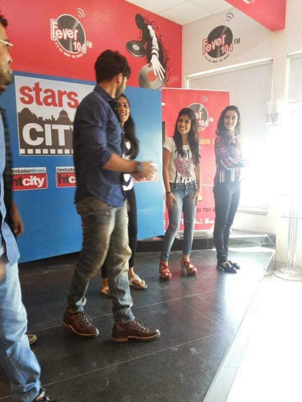 Shahid With Shraddha At Delhi Stars In The City For Haider Promotion