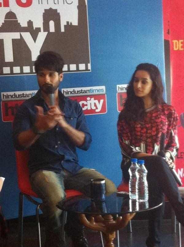Shahid Talk About His Movie Haider At Delhi Stars In The City