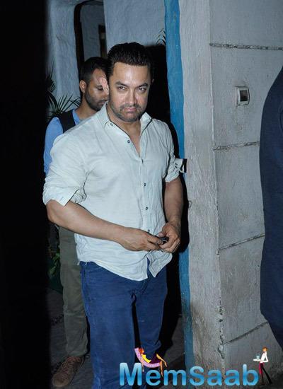 Aamir Khan Sports A New Look At Vidhu Vinod Chopra Studios