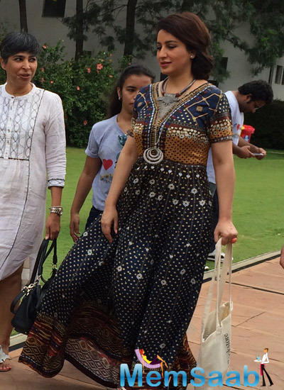 Tisca Chopra Arrived To Attend The Bangalore Literature Festival