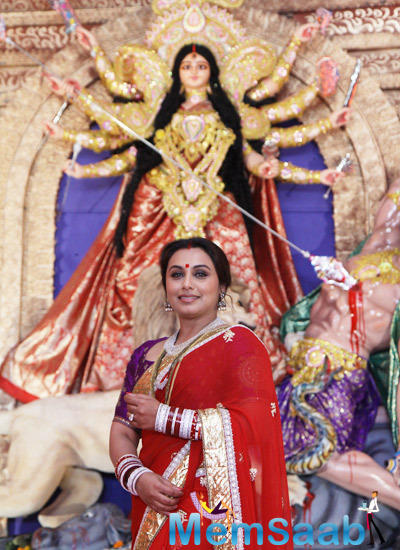 Rani Mukerji Wishes All A Very Happy And Prosperous Durga Puja