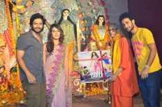 Ali Fazal,Rhea Chakraborty And Raghav Juyal Seek Blessing At Bandra Sarbojanik Durga Puja Pandal