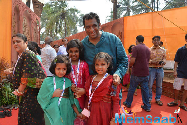 Anurag Basu Posed With Kids During Durga Puja Celebration