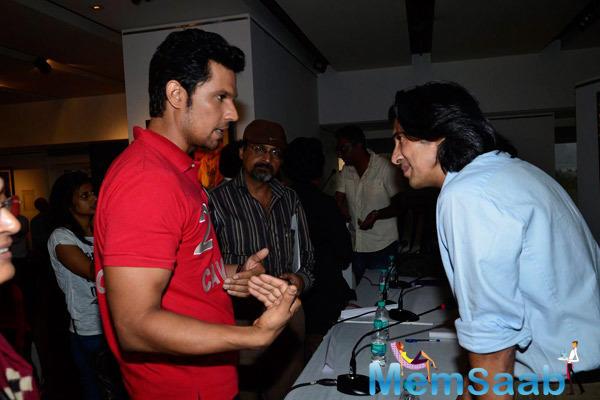 Randeep Hooda In Deep Conversation During The Promotion Of Rang Rasiya