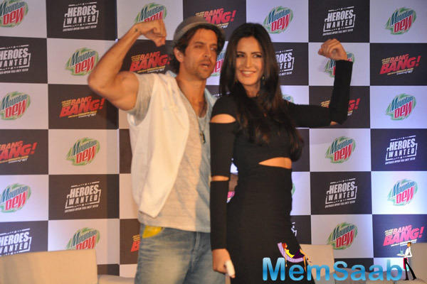 Hrithik Roshan And Katrina Kaif Promoted Their Film Bang Bang And Unveiled Mountain Dew Campaign Heroes Wanted