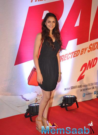 Aditi Rao Hydari Looked Pretty And Cute During Bang Bang Special Screening Hosted By Hrithik Roshan