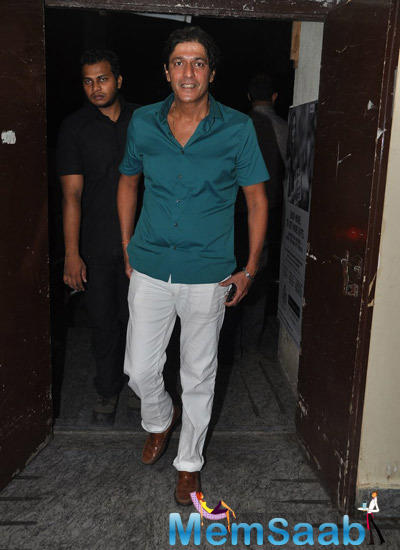Chunky Pandey Arrived At Bang Bang Special Screening Hosted By Hrithik Roshan