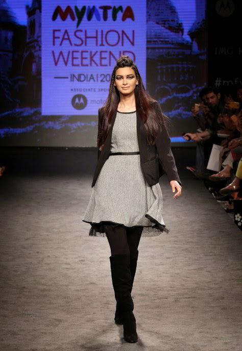 Diana Penty Walks The Ramp For Elle During Myntra Fashion Weekend 2014