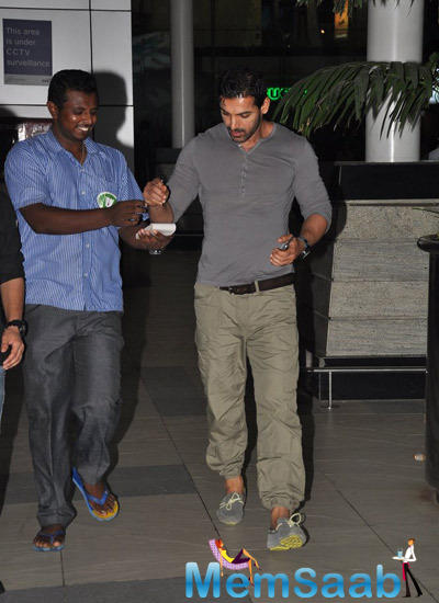 John Abraham Snapped At Mumbai Airport