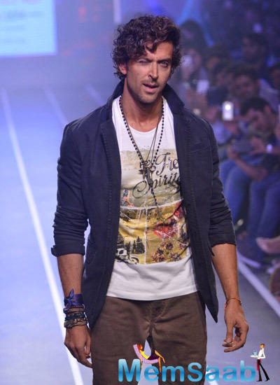 Hrithik Roshan Cool Casual Look On Ramp At Myntra Fashion Weekend Finale 2014