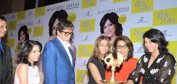 Ileana,Neetu And Priya Light The Candles,Dr Jaishree And Big B Look On During The Launch Of Dr Jaishree Sharad Book