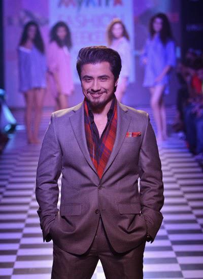 Ali Zafar Dashing Look On Ramp At Myntra Fashion Weekend 2014 On Day 2