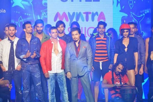 Ali Zafar Posed On Ramp With Models On Day 2 Myntra Fashion Weekend 2014