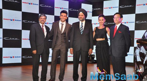 Ranveer Singh During The Launch Of Mid-Size Sedan New Maruti Suzuki Ciaz