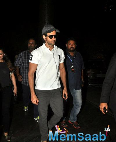 Hrithik Roshan In Casual Look With White Tee During He Snapped At A Suburban Hotel