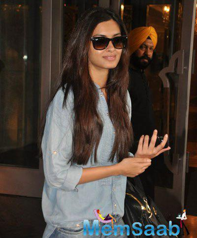 Diana Penty Seen Out Side Of Palladium Hotel