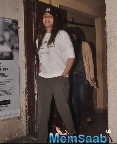 Alia Bhatt Sports With Casual Look At PVR in Mumbai