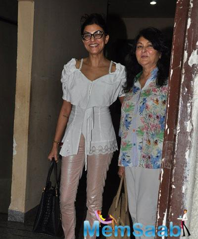 Sushmita And Her Mom Attended A Movie Screening At PVR in Mumbai