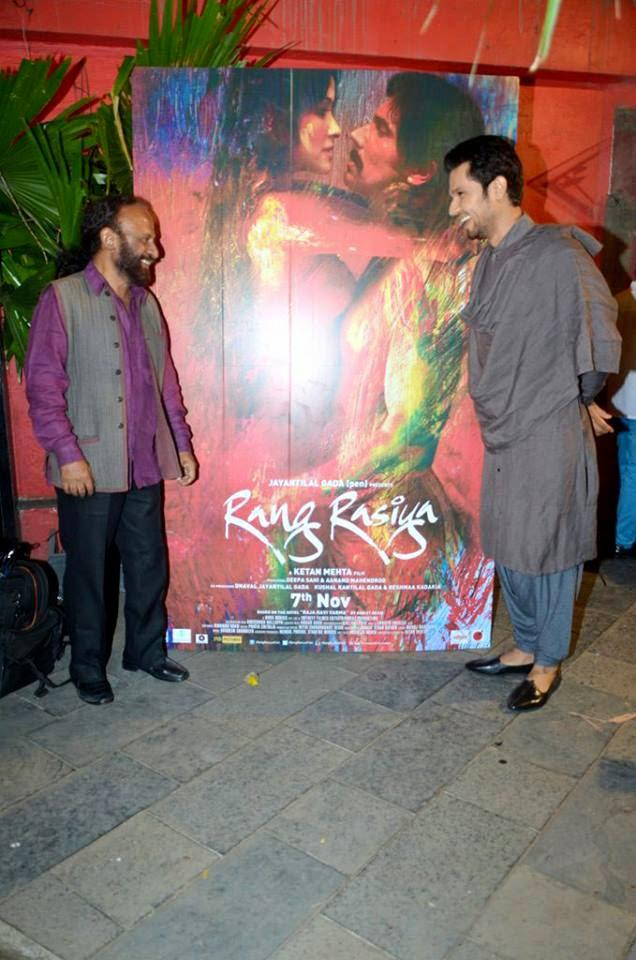 Randeep Hooda Smiling Look During The Rang Rasiya Promotional Event